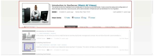 Installation videos from Citrix TV.