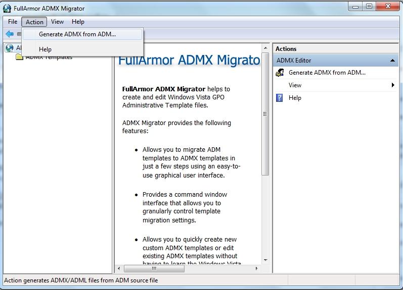 Generate ADMX from ADM