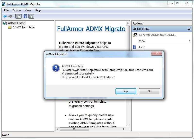 load ADMX editor